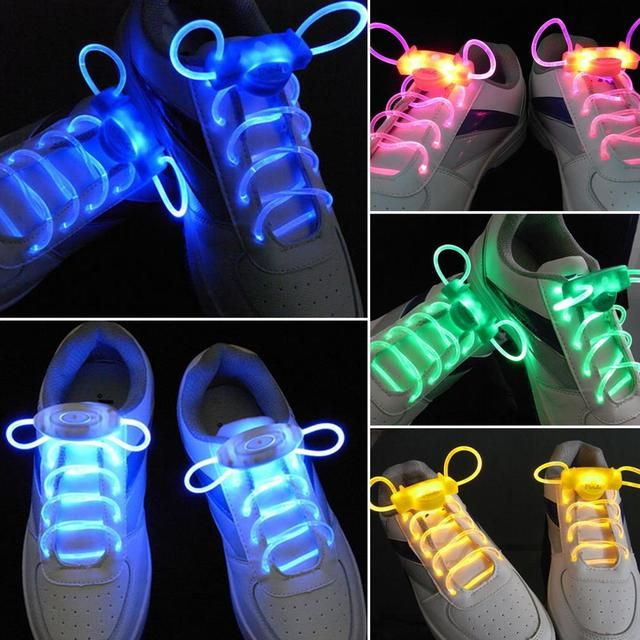 1Pair LED Sport Shoe Laces Flash Light Glow Stick Strap Shoelaces Disco Party Club Hot Selling 2017 hot selling worldwide