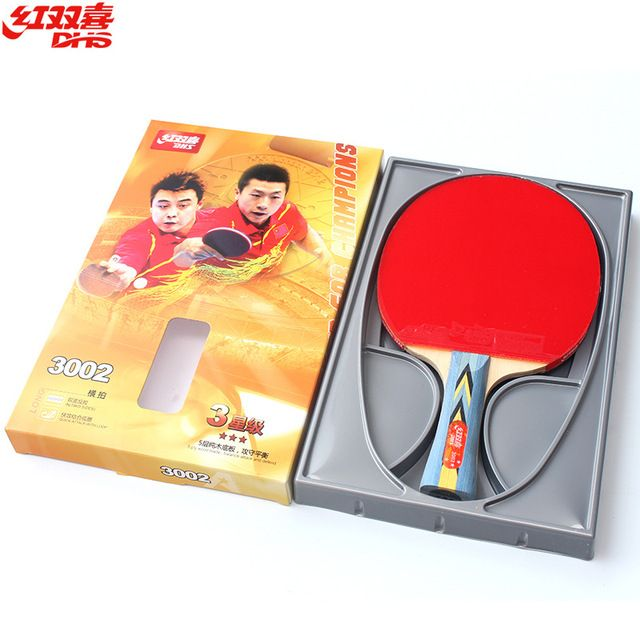 Horizontal Grip and Straight Grip Table Tennis Racket Pingpong Pimples In Rackets Long Holder and Short Holder DHS 3 Star