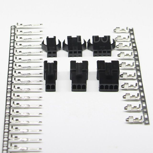 50sets/lot SM 2/3/4Pin 2.54 Female and Male JST 2.54MM SM2.54 connector  3 in 1 connectors 2.54MM