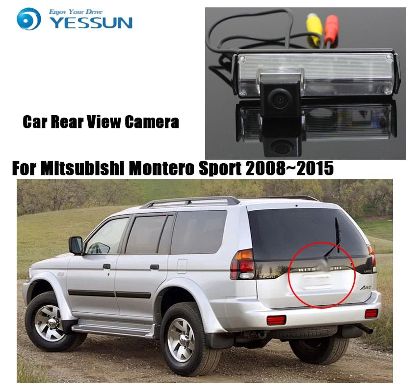 YESSUN For Mitsubishi Montero Sport 2009~2015  Reversing Backup Camera  Car Parking Camera Rear View Camera  HD CCD
