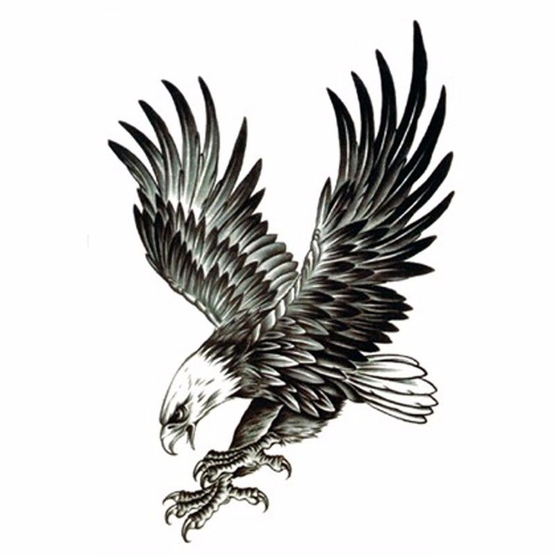 2Pcs Cool Eagle Tattoo for Men Waterproof Temporary Tattoos Water Transfer Stickers On The Body Fake Tatoo Sleeves Fake Tattoos