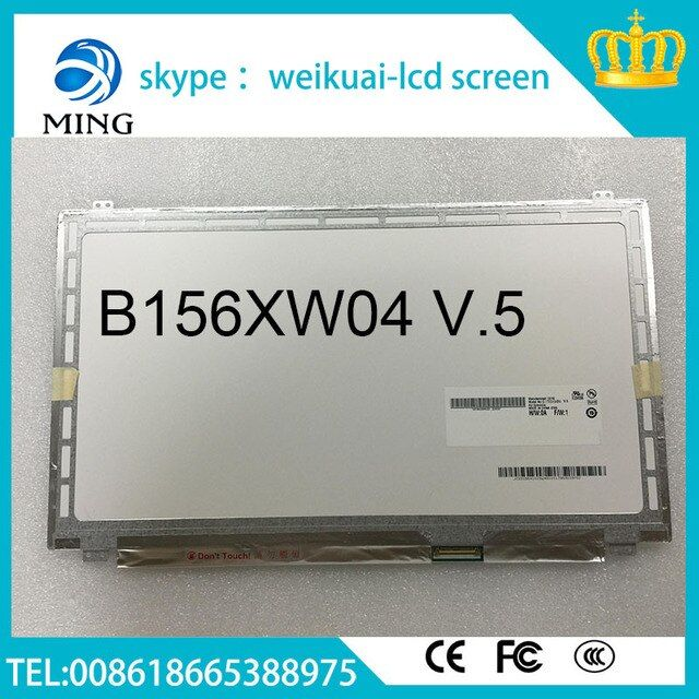 "Free shipping LP156WH3 TLA1,LTN156AT11/LTN156AT20,N156B6-LOD, B156XW04 V.5 Laptop LCD Screen 15.6"" WXGA HD LED 40PIN"