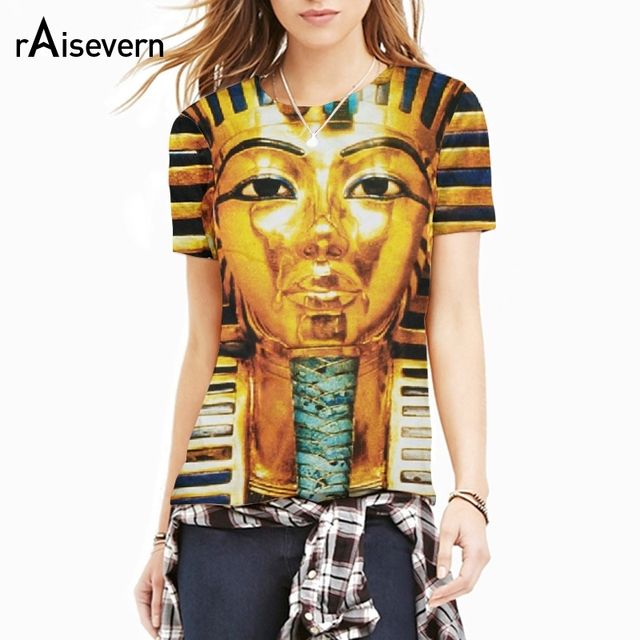Raisevern Fashion Brand New 3D T Shirt Pharaoh of Egypt Print Men Women Short Sleeve Tee Tops M-XXL Dropship
