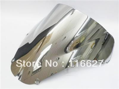 Freeshipping Chrome Double Bubble Windshield For 2000-2001 Honda CBR929RR CBR 929 RR 929RR