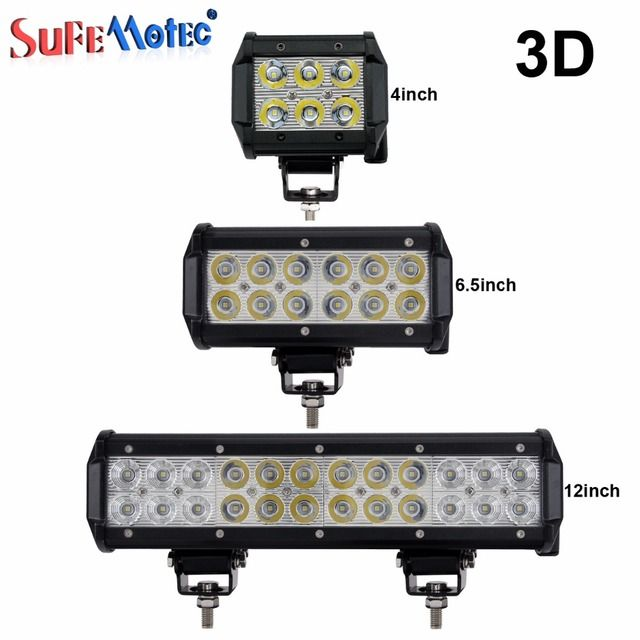 4 6.5 12 INCH 18W 36W 72W LED LIGHT BAR SPOT FLOOD BEAM OFF ROAD SUV 4X4 WORK LIGHT FOR TRACTOR BOAT MILITARY EQUIPMENT 12V 24V
