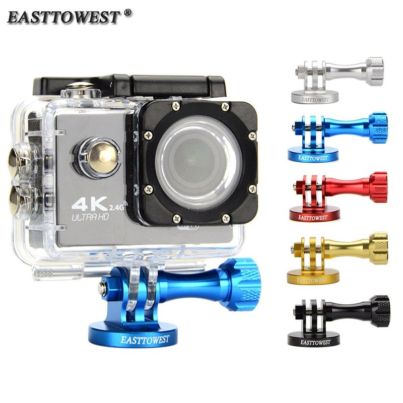 Easttowest Go Pro Mount CNC Aluminum Alloy Tripod Adapter for Go Pro Hero 7 6 5 4 3 Xiaomi Yi Sjcam Sj4000 Sj5000 Action Camera