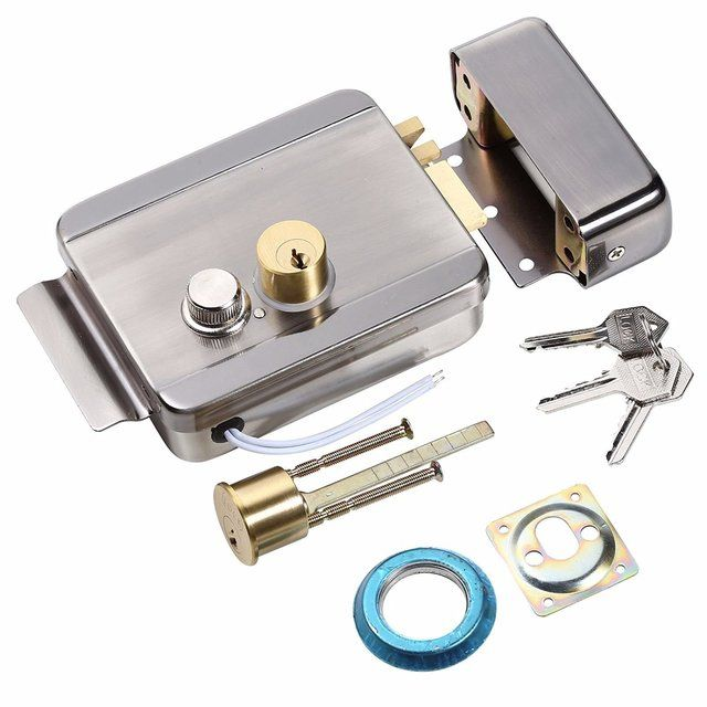 OBO HANDS Anti-theft Electric Control Release Rim Door Lock Fail Secure Stainless Steel