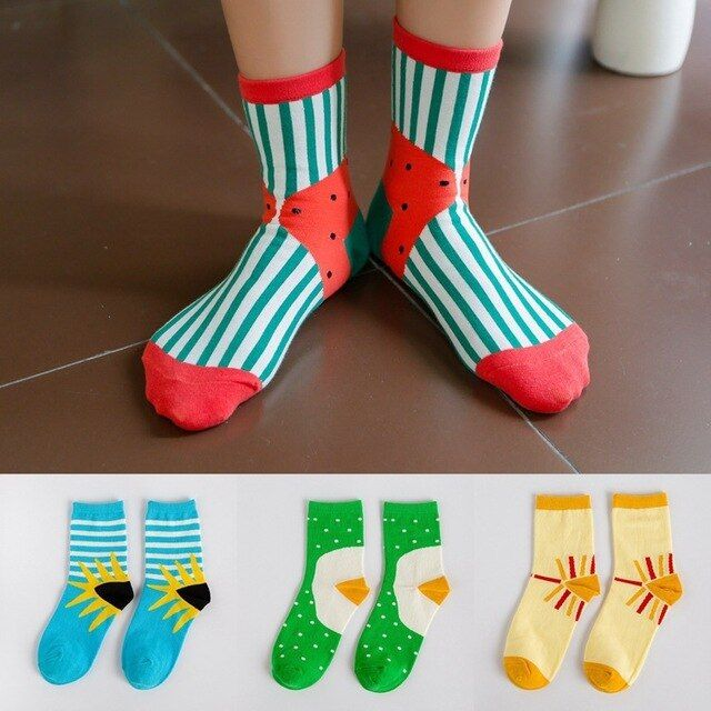 wholesale 100pcs=50pairs cotton socks socks wholesale Android products Korea fresh fun cotton socks with dot stripe