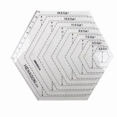 Free shipping  American quilts with feet patchwork quilting ruler Hexagon polygon DIY cutting ruler