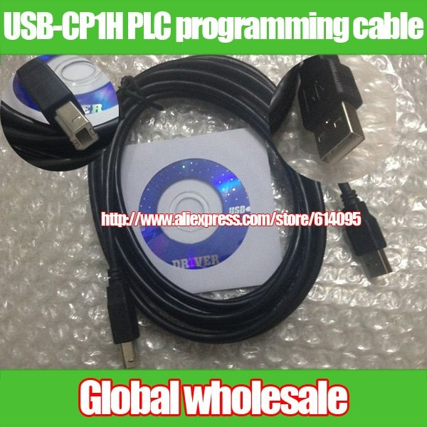 2pcs 3M USB-CP1H Omron CP1H CP1L CP1G CP1E series PLC programming cable Electronic Data Systems