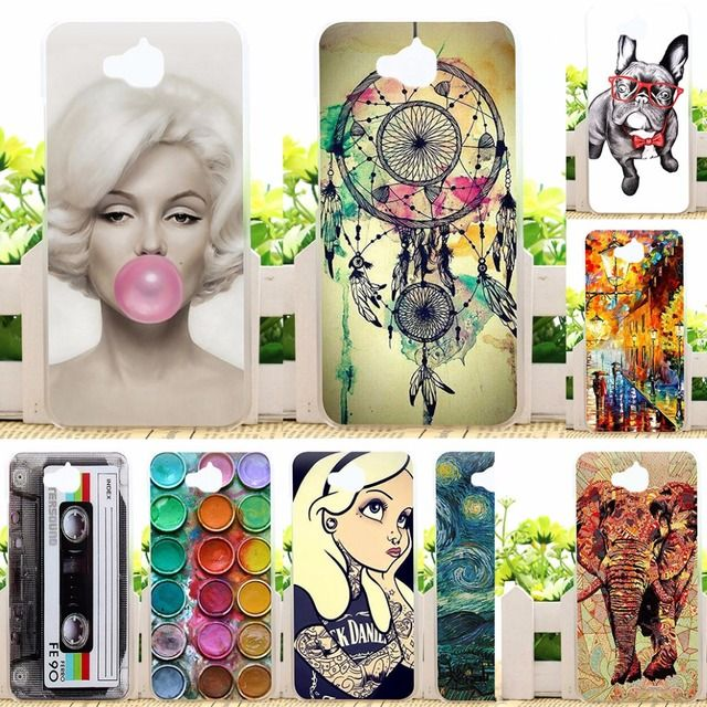 For Huawei Y6 Pro Cases Painted Phone Case For Huawei Honor 4C Pro Y6 Pro Enjoy 5 Honor Holly 2 Plus 5.0 inch Back Covers Case