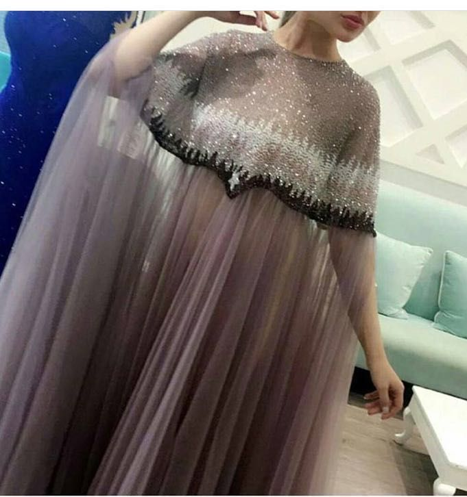 Sexy Long Muslim tulle Formal Evening Party Dress Elegant Turkish Robe Dubai Arabic Prom Evening Dresses Gowns Pregnant Kaftan