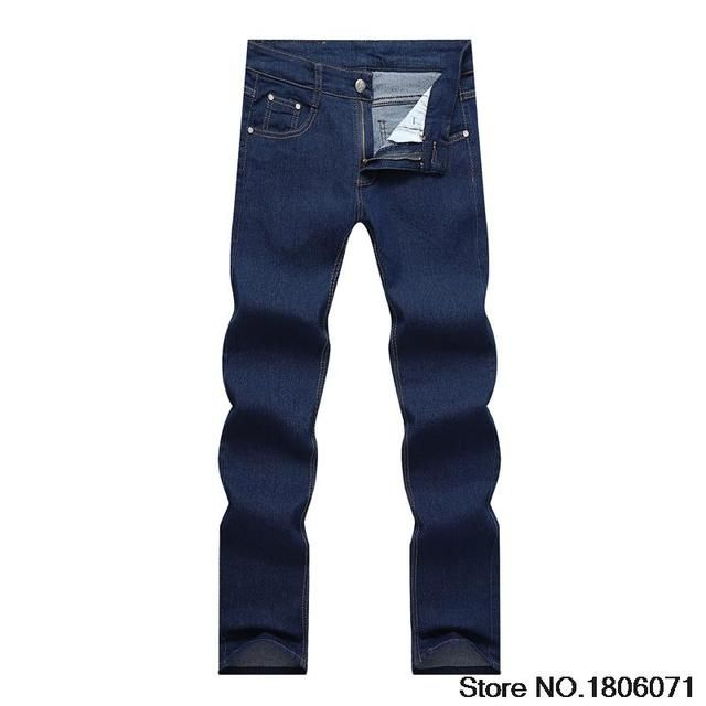Men's Jeans Thin Fashion Brand Denim Pants Leisure Black Straight Spring Summer Jeans Slim Men Trousers CK018