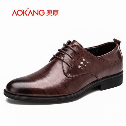 Aokang 2015 New Arrival Genuine Leather Men's  Dress Shoes Gentle Men's Shoes