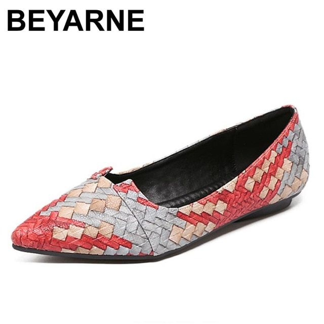 BEYARNE Summer Women Flats Shoes New Shoes Woman Brand Fashion Casual Sapatos Femininos Ballet Ballerina Ballet Flats