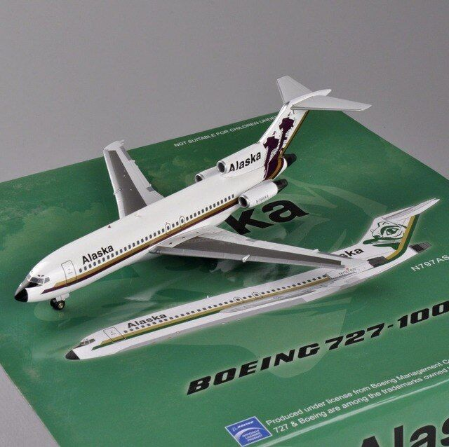 Inflight 1:200 Scale Alaska Airplane Model N766AS Boeing 727-100 Airplane Aircraft Model Toys brinquedos Gifts Collection E