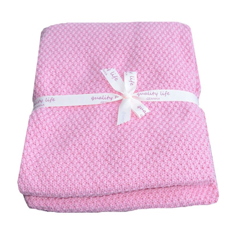 "Hot sale high quality 100% cotton knit blanket for Summer/Autumn on Sofa/Bed ""Weave pattern"" Baby blanket  80*135cm"