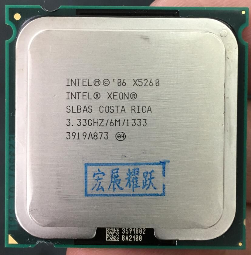 Intel Xeon x5260 CPU SLBAS EO Processor Close to Core 2 Duo E8600,works on LGA775 mainboard no need adapter