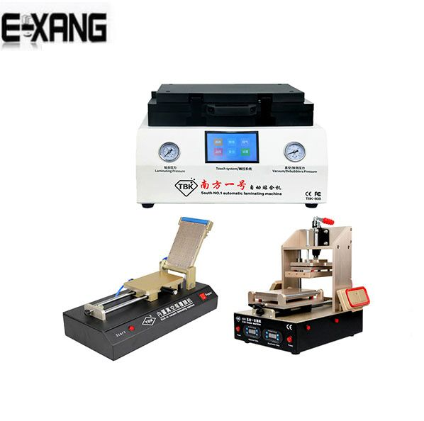 TBK-808 Automatic Bubble Removing Machine OCA Vacuum Laminating Machine+TBK-518 5 in 1 frame separator machine+OCA film machine