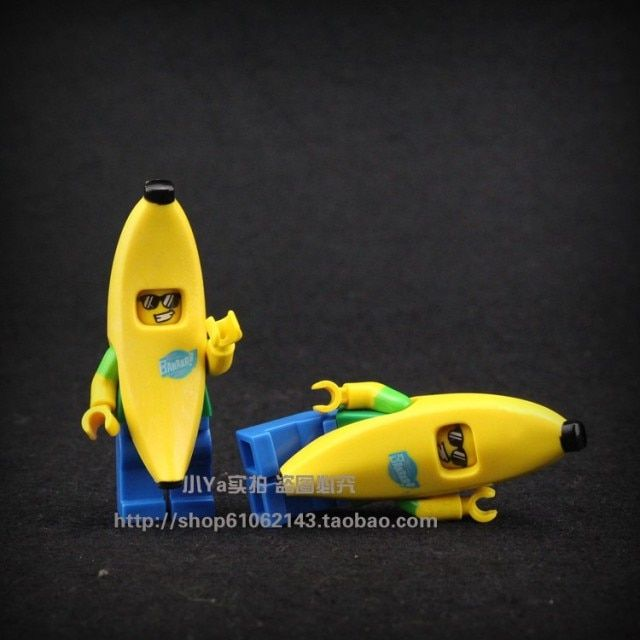 2017 New Hot Sale 6pcs/set POGO Figures Mr Banana Guy Assemble Cartoon Toys Building Blocks Compatible With Legoe brinquedos