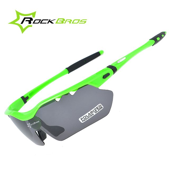 2016 ROCKBROS 5 Lens Polarized UV400 Protection Bicycle Sun Glasses TR90 Goggles Beach Sun Glass for Outdoor Sports Cycling Bike