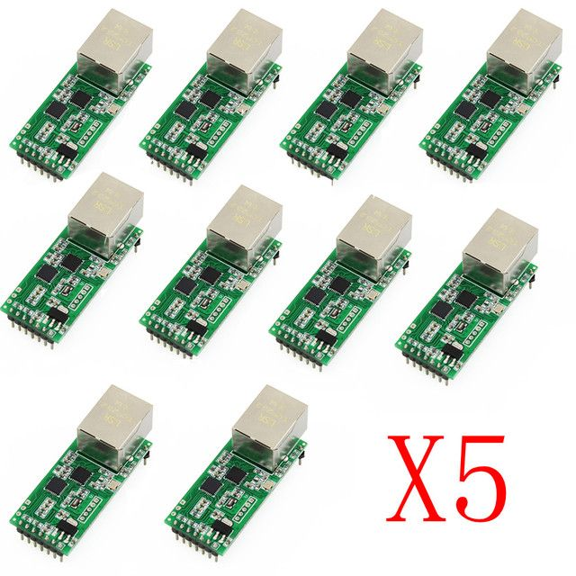 Q18042-50 50PCS USRIOT USR-TCP232-T2 Tiny Serial Ethernet Converter Module Serial UART TTL to Ethernet TCPIP Module