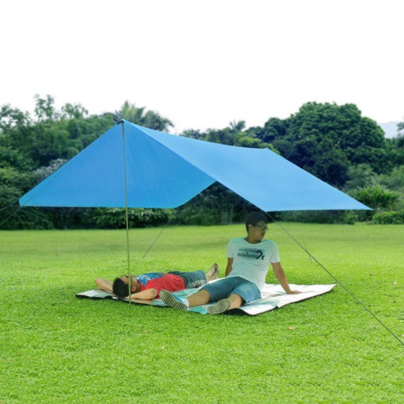 Outdoor Ultralight Sun Shelter Anti UV Beach Tent Pergola Awning Shade Canopy Tent 190T 3-4 Person Camping Tent