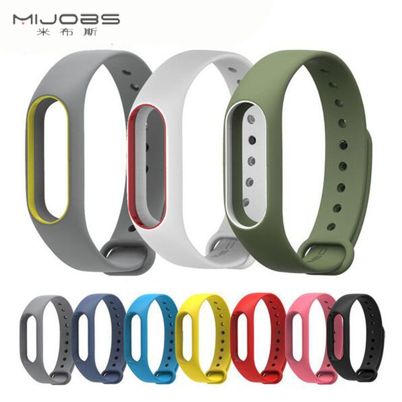 Mi band 2 Replace Strap+2pcs Screen Protector Film for Xiaomi Mi Band 2 MiBand 2 Silicone Wristbands for Xiaomi Band 2 Bracelet