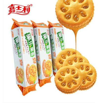 Free shipping,Food,Chinese food,Orange flavor,1 pack, 93 grams,Juice cookies,Snack,Biscuits