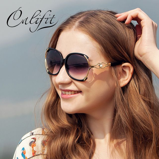 CALIFIT Ladies Vintage Butterfly Sunglasses Women Party Ponit Oversized Luxury Brand Designer Shades 2017 New Sun Glasses Oculos