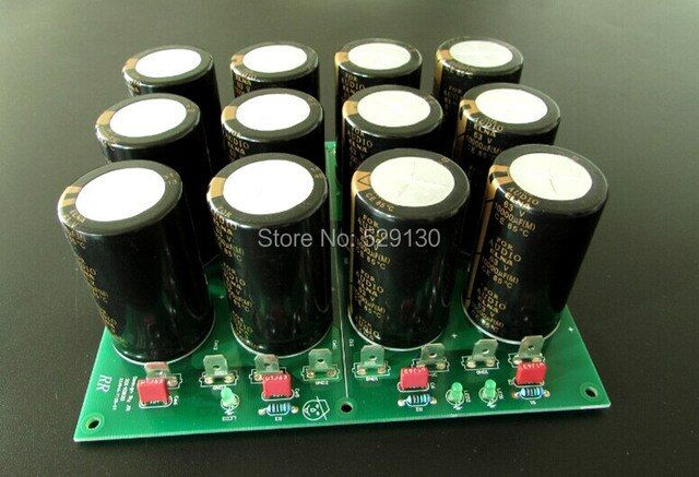 finish dual independent rectified and filtered power board  4pcs 10000UF 63V elna for E405 ksa100MKII ma-9s2 amplifier elna
