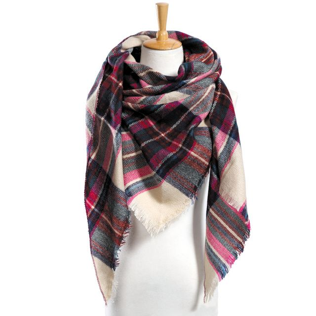 Winter Scarf Women Plaid Scarf Designer Triangle Cashmere Shawls Women's Scarves Dropshipping VS051