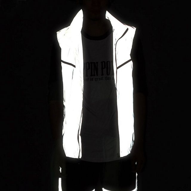 Outdoor Sport Cycling Camping Hiking 3 M Reflective Vest Safety Clothing Night Jogging Running Jacket Coat Waterproof Windproof