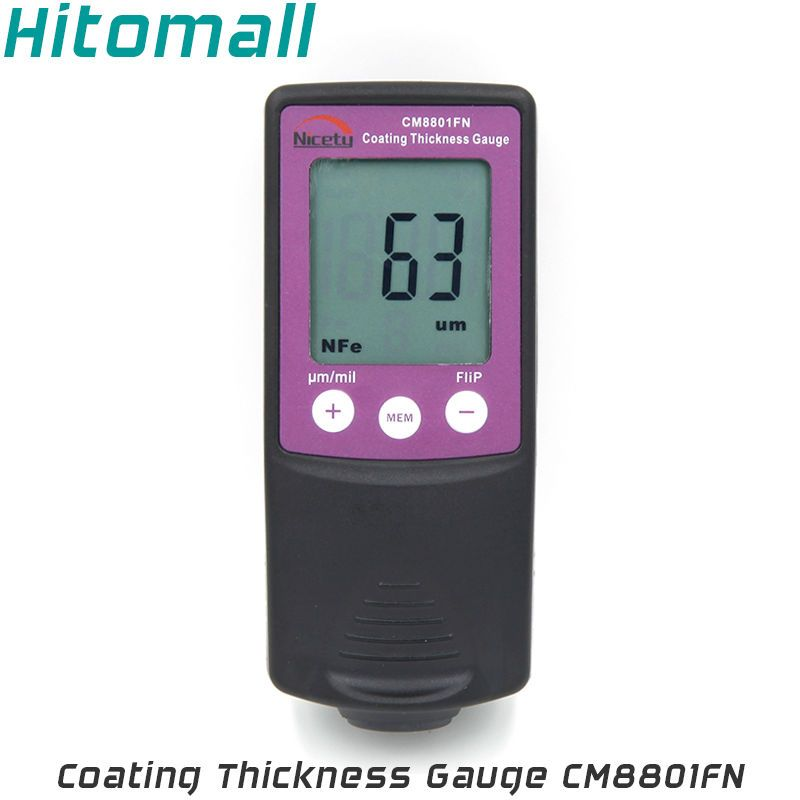 Fe/NFe 2 in One Handheld Coating Thickness Gauge Painting Thickness Measurement Film Thickness Meter Car Paint Tester CM8801FN