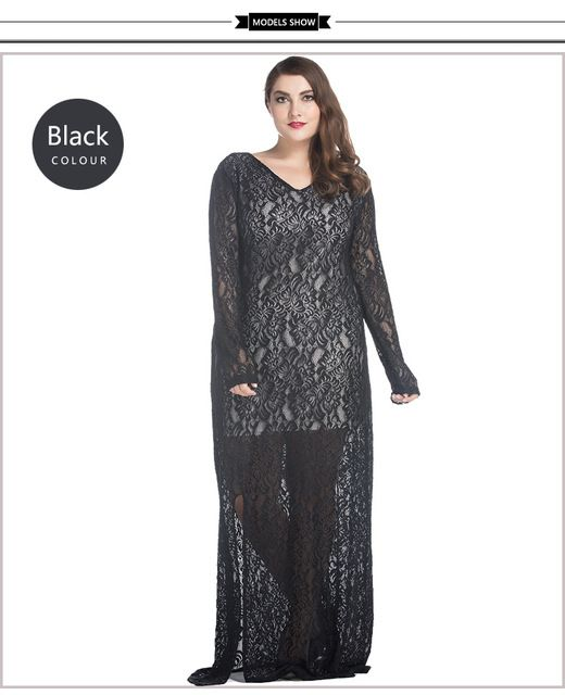 Spring Summer Sexy Hollow Out black Lace muslim women abaya casual  abaya  Maxi Long Elegant abaya