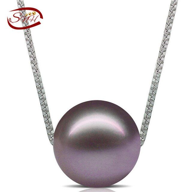sterling silver chain real cultured pearl pendant jewelry