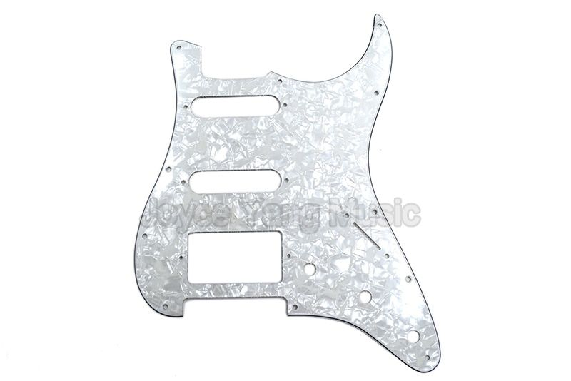Niko Pearl White Celluloid 4 PLY Electric Guitar Pickguard SSH Pickups For Fender Strat Style Electric Guitar Free Shipping