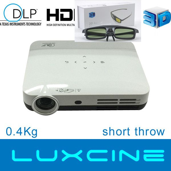 Pico LED 3D Home Theater Projector Z2 With 600ANSI Lumens and Keystone, 2D to 3D Conversion Supported