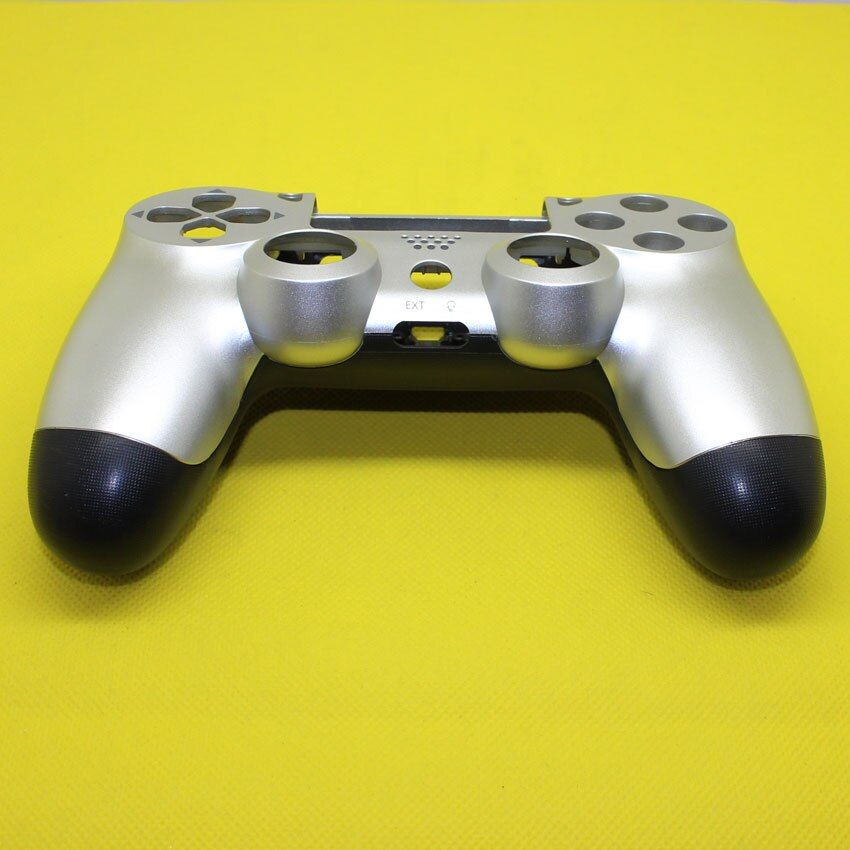 YX-228  Silver Front+Back Case Housing Shell Case Cover Skin Protector for Sony PlayStation 4 PS4 Gamepad Wireless Controller
