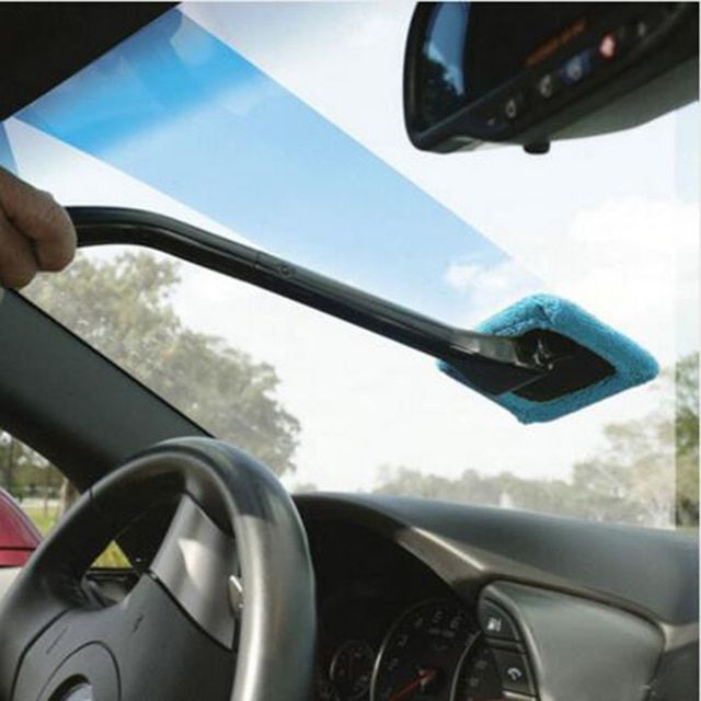 BU-Bauty New Arrival  Microfiber Auto Window Cleaner Long Handle Car Washable Brush Car Window Windshield Wiper Cleaner Cloth Cl