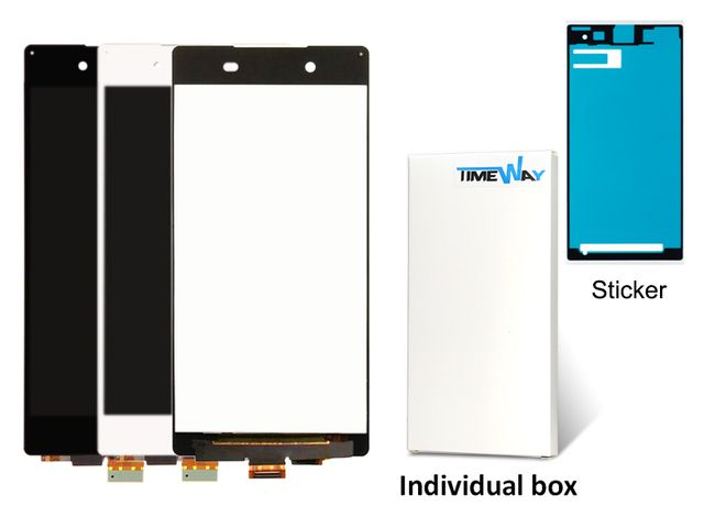 DHL 10pcs 100%   New !!!! For Sony Xperia Z4 LCD with Touch Screen Digitizer Assembly White or Black Color Free Shipping