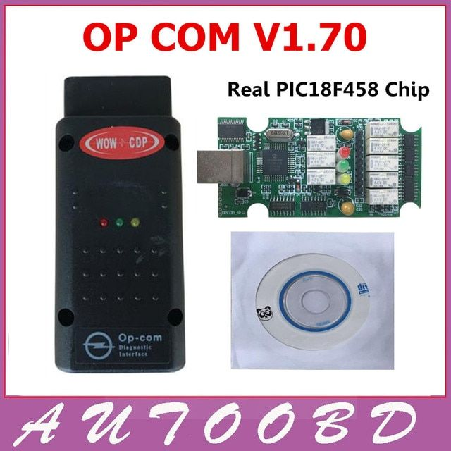 2017 New OP COM opel V1.70 OPCOM with Best Green PCB Real PIC18F458 chip OBD2 CAN BUS for Opel obd2 Professional diagnostic Tool