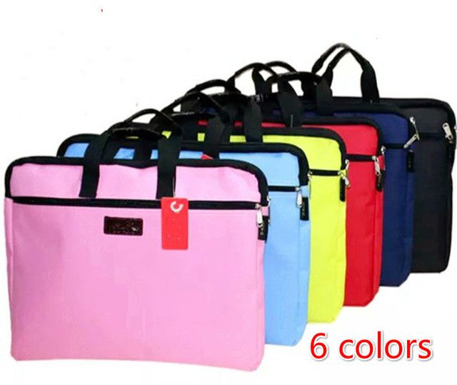 Hot selling zipper Oxford cloth document fillings A4 portable double layer holder computer folders filling products