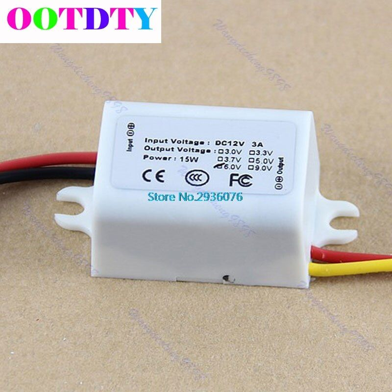 DC DC Converter 15W 12V Step Down to 6V 3A Power Supply Module Waterproof MY2_30