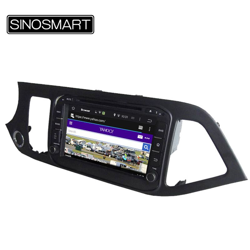 SINOSMART 1.6GHz Quad Core 8 Inch Android 5.1 Car DVD GPS Navigation for KIA Picanto Morning 2011-2015 without Canbus