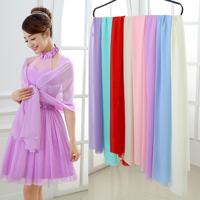 Bridal Wraps Chiffon Colorful Bolero 2016 New On Sale bolero mariage bolero Jackets for Evening Dresses Bridesmaid Girls Scarf