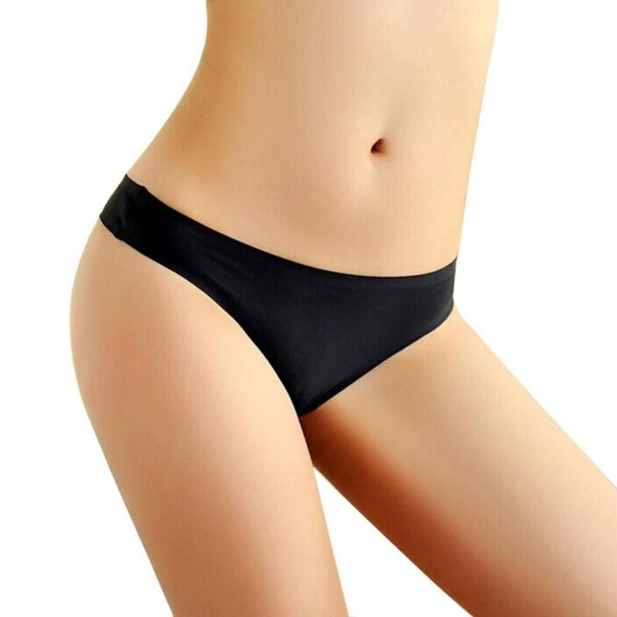 SIF 2016  Women Invisible Underwear Briefs Thong Cotton Spandex Seamless Crotch Mar 18