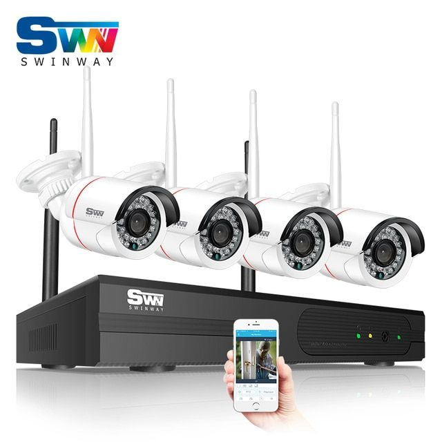 New Arrival 960P HD Outdoor IR Night-Vision Home Video Surveillance Security IP Camera WIFI CCTV Kit 4CH Wireless NVR System
