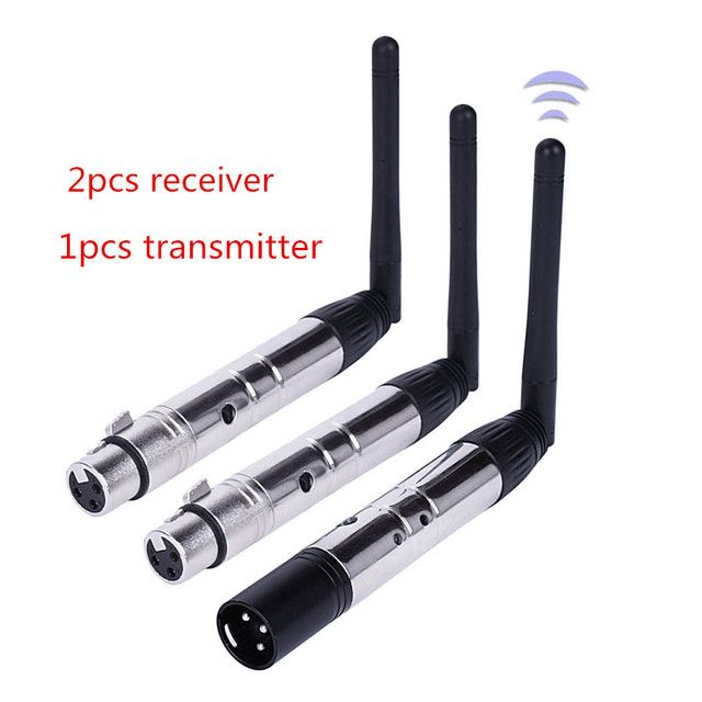 Professional DMX512 Equipment  wireless transmitter&receiver set 2.4GHz XLR DMX transceiver for led Par DJ Lighting Disco lights