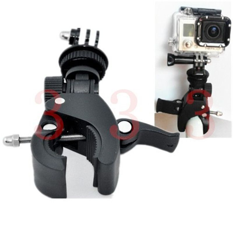 For Gopro Motorcycle Bike Bicycle Handlebar Tripod Adapter Holder Mount For Gopro Hero 6 5 4 Session 3 3+ 2 SJ6000 Sport Camera